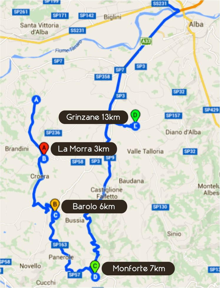 Road Book Second Day Tour Barbaresco