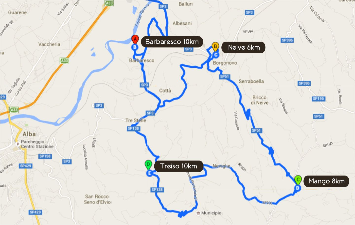 Road Book Second Day Tour Dolcetto