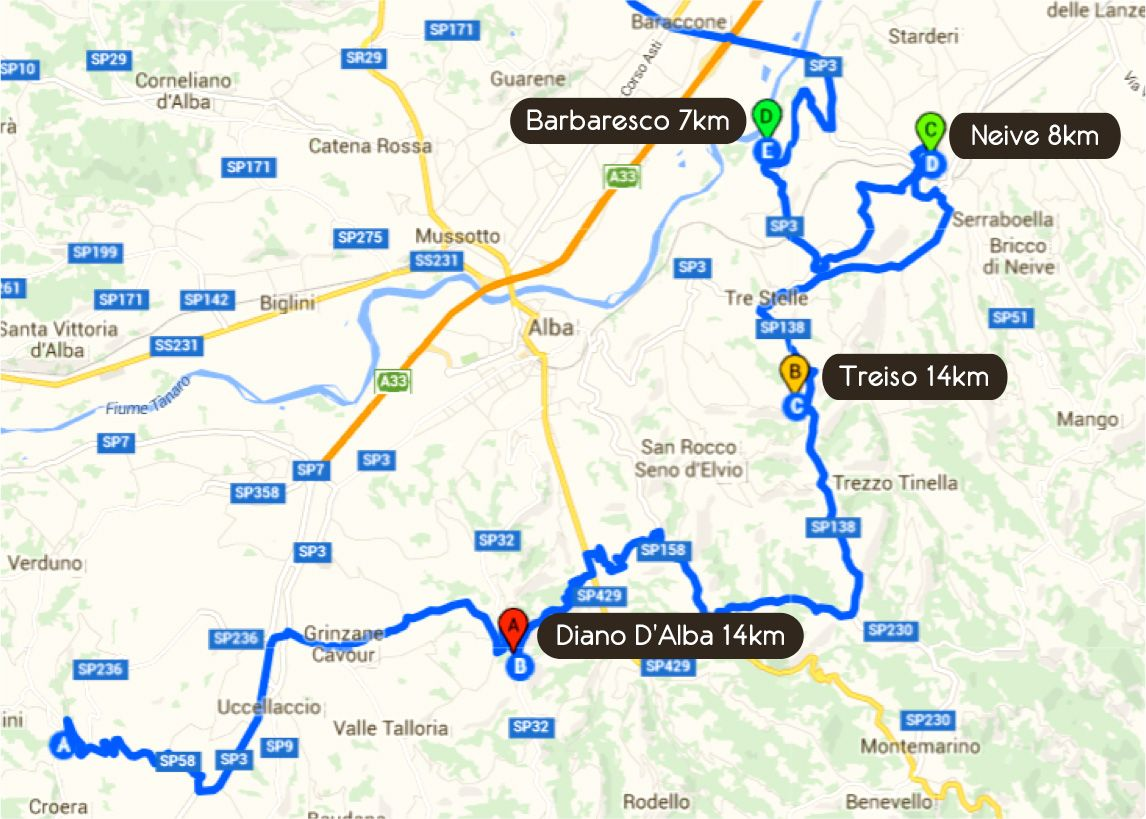 Road Book Third Day Tour Barbaresco